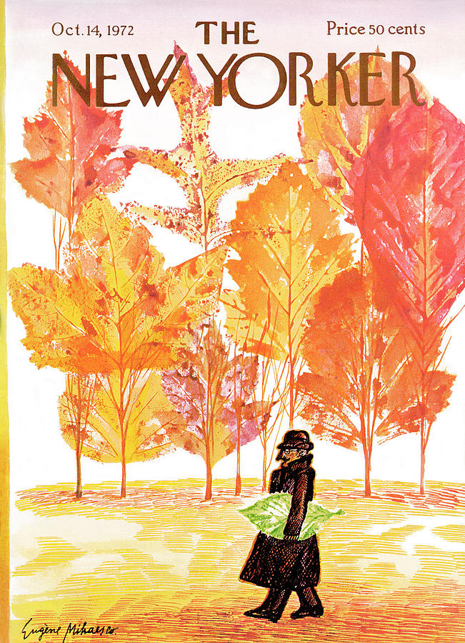 New Yorker October 14th, 1972 Painting by Eugene Mihaesco