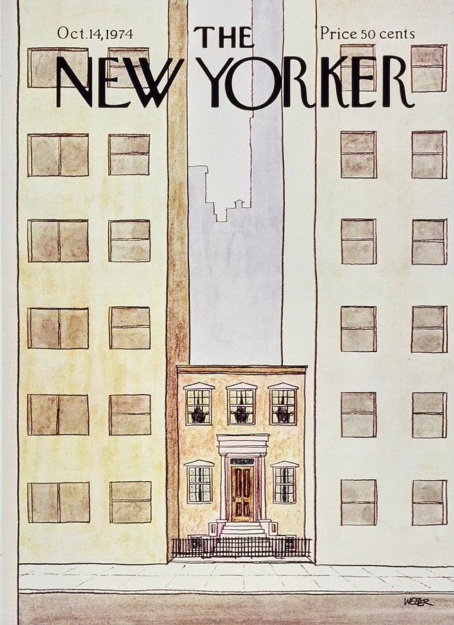New Yorker October 14th 1974 Painting by Robert Weber