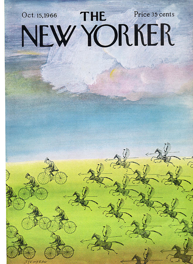 New Yorker October 15th, 1966 Painting by Saul Steinberg