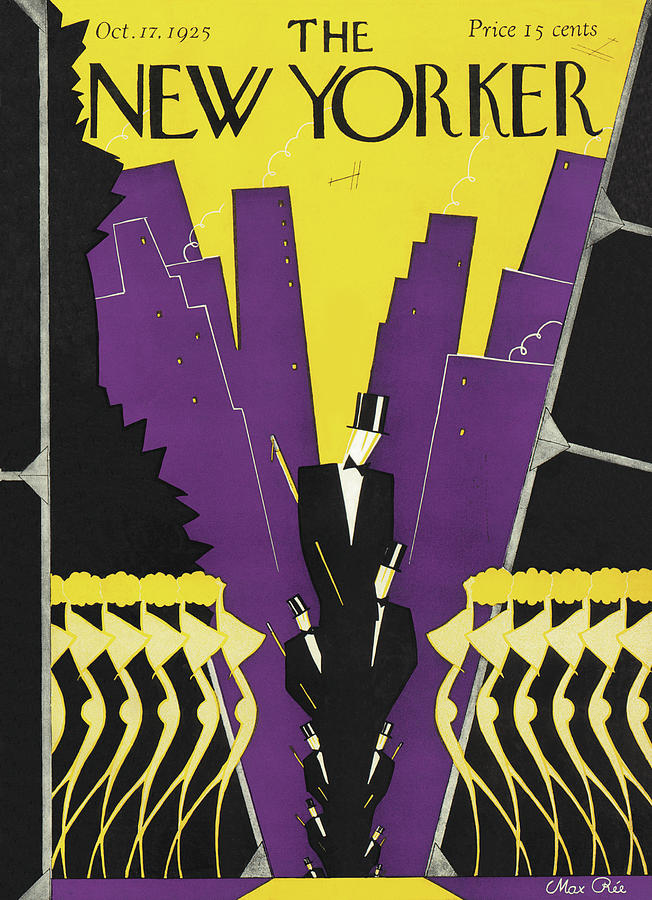 New Yorker October 17th, 1925 Painting by Max Ree