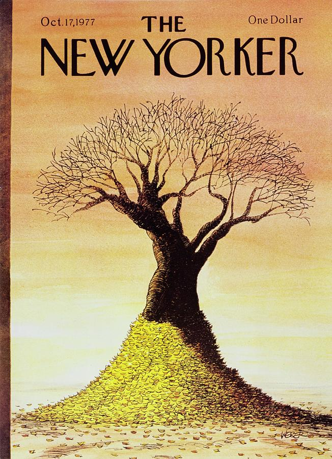 New Yorker October 17th 1977 Painting by Robert Weber