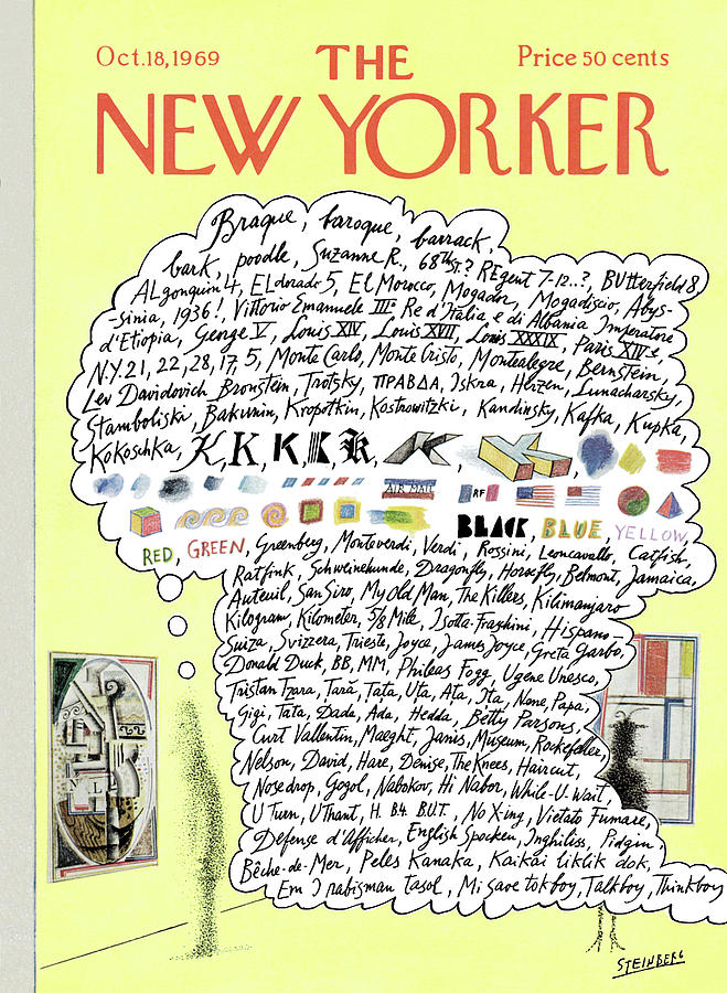 New Yorker October 18th, 1969 Painting by Saul Steinberg