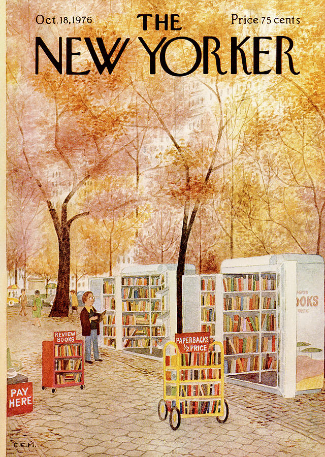 Strand Painting - New Yorker October 18th, 1976 by Charles E Martin