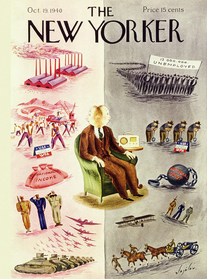 New Yorker October 19 1940 Painting by Constantin Alajalov