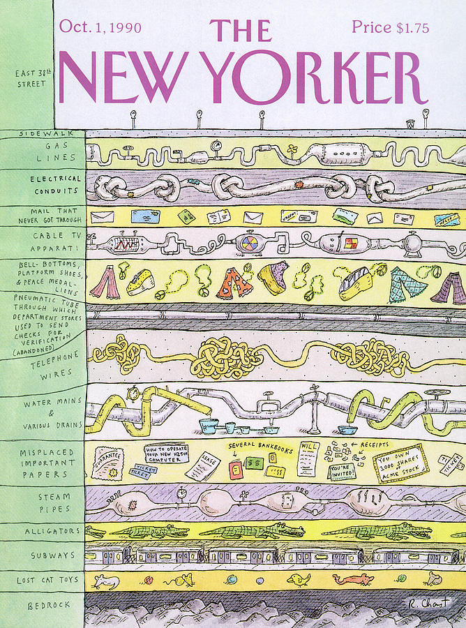 New Yorker October 1st, 1990 Painting by Roz Chast