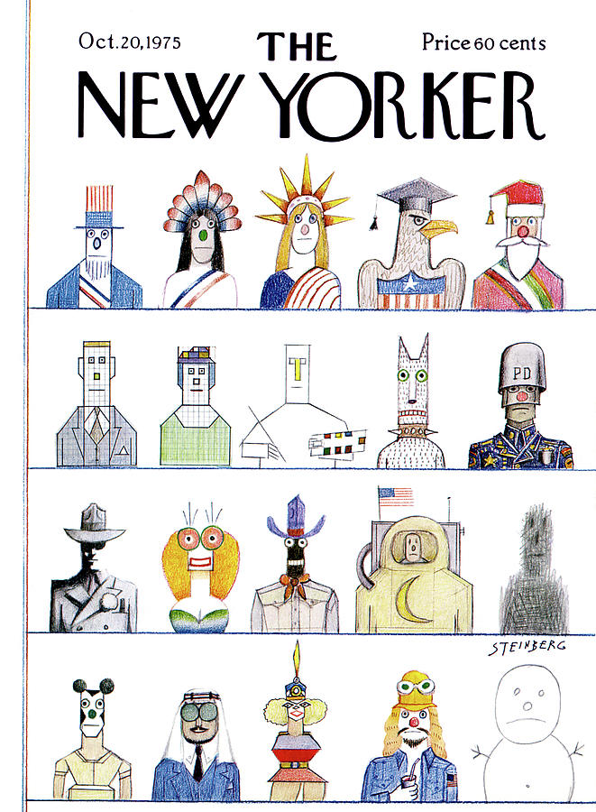 New Yorker October 20th, 1975 Painting by Saul Steinberg