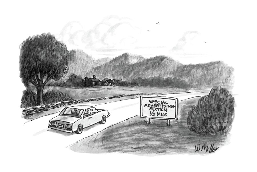 Marketing Drawing - New Yorker October 20th, 1986 by Warren Miller