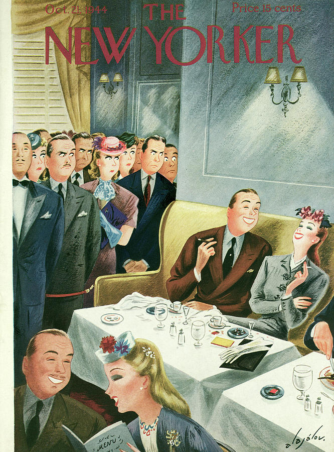 New Yorker October 21, 1944 Painting by Constantin Alajalov