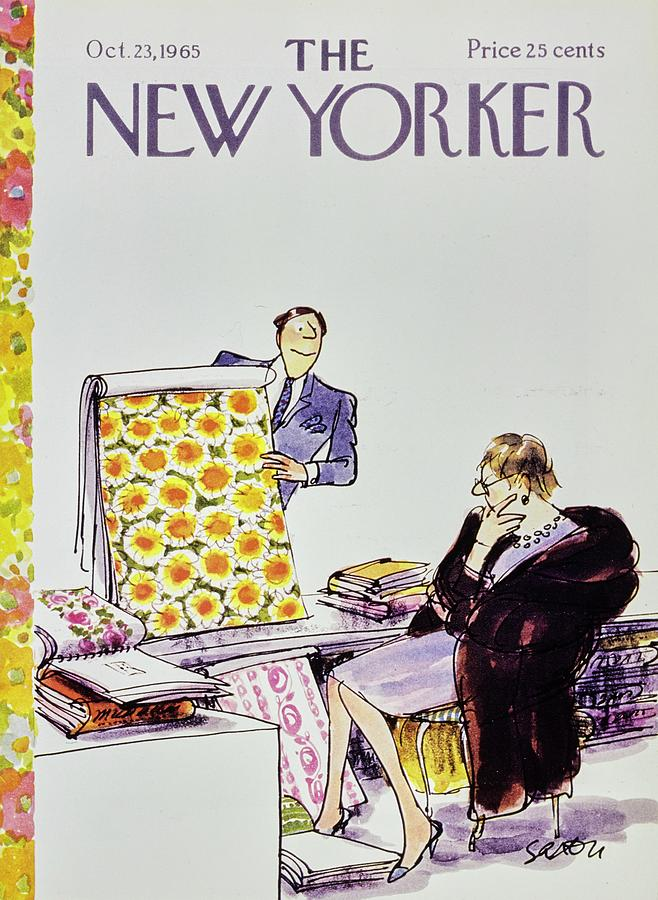 New Yorker October 23rd 1965 Painting by Charles D Saxon