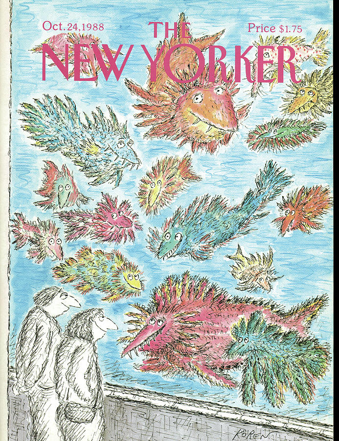 New Yorker October 24th, 1988 Painting by Edward Koren