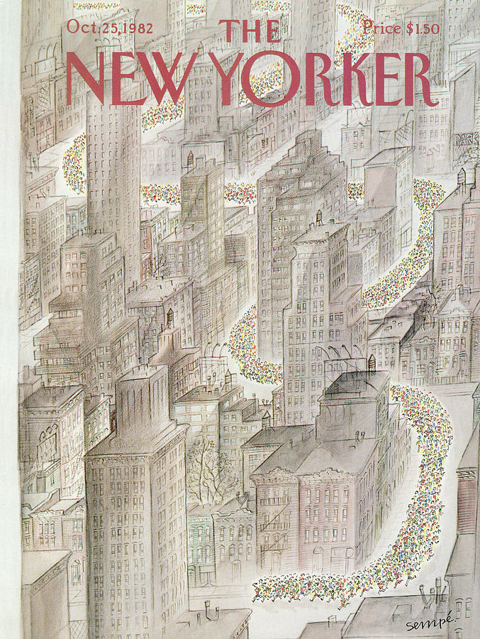 New Yorker October 25th, 1982 Painting by Jean-Jacques Sempe