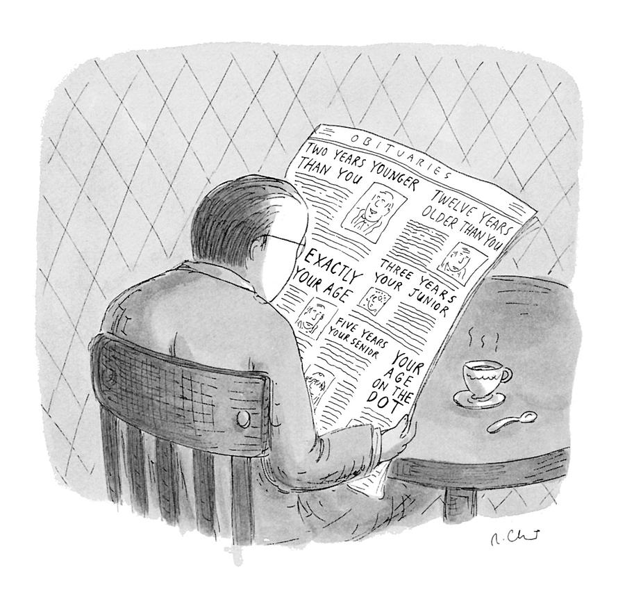 Aging Drawing - New Yorker October 25th, 1993 by Roz Chast