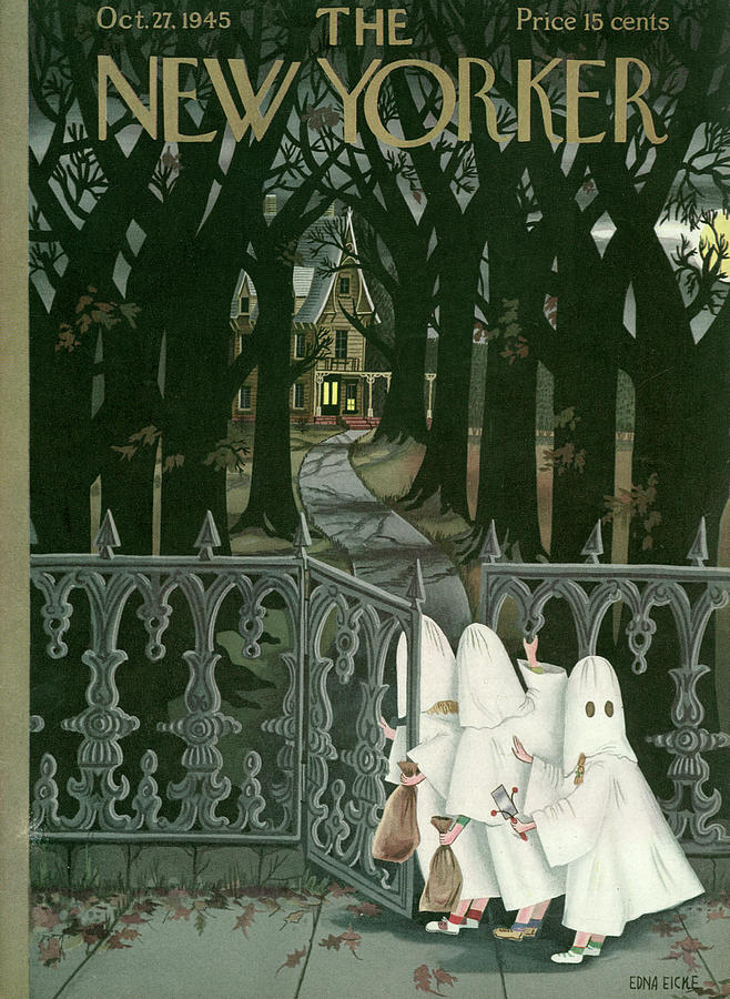 New Yorker October 27, 1945 Painting by Edna Eicke