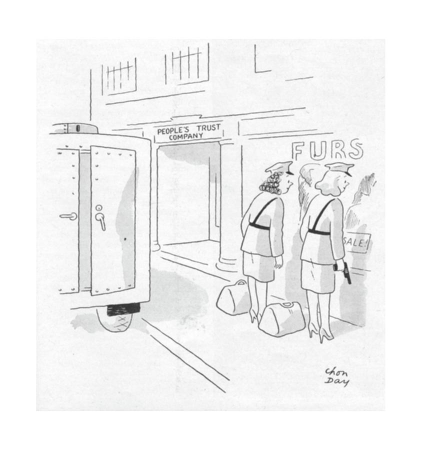 New Yorker October 28th, 1944 Drawing by Chon Day