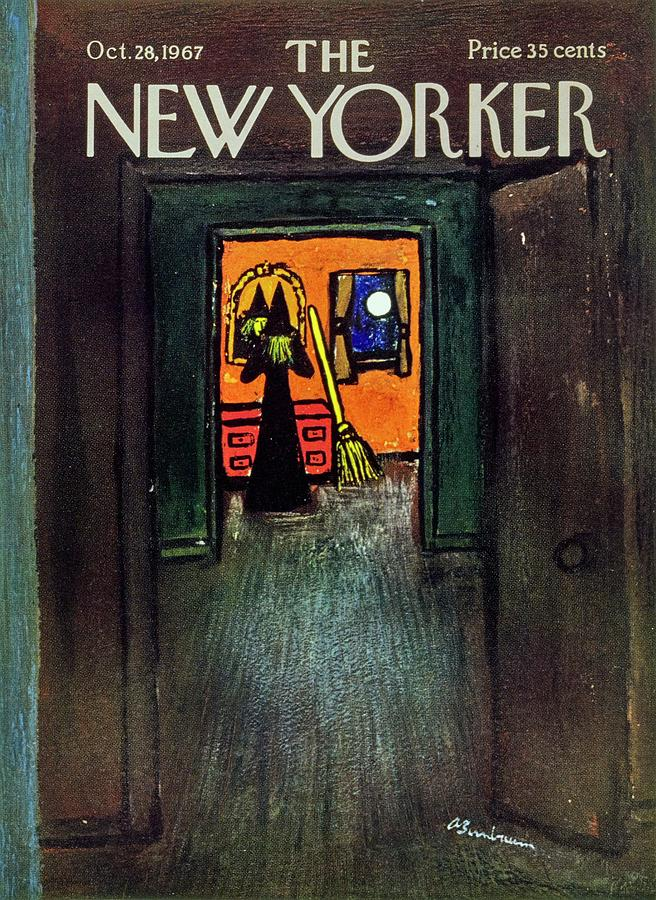 New Yorker October 28th 1967 Painting by Aaron Birnbaum