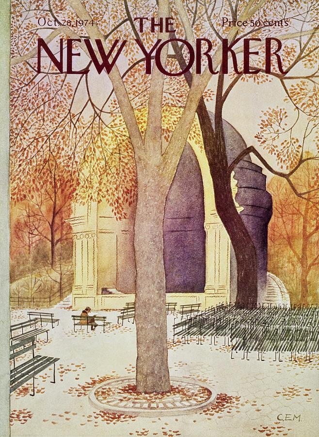 New Yorker October 28th 1974 Painting by Charles Martin