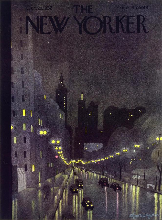 Illustration Painting - New Yorker October 29 1932 by Arthur K. Kronengold