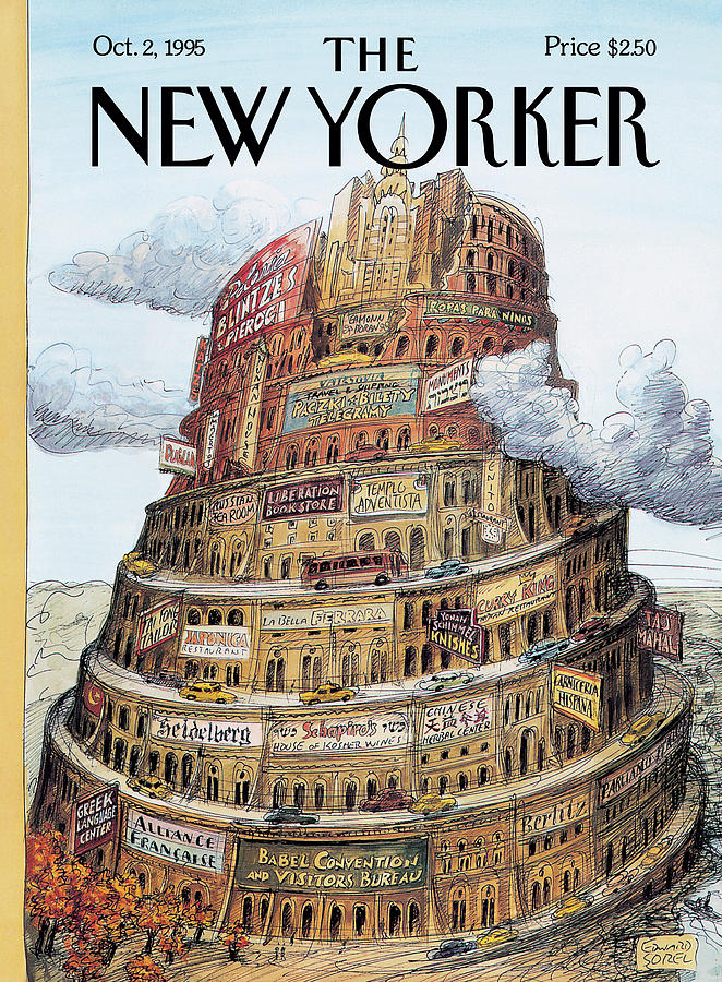 New Yorker October 2nd, 1995 Painting by Edward Sorel