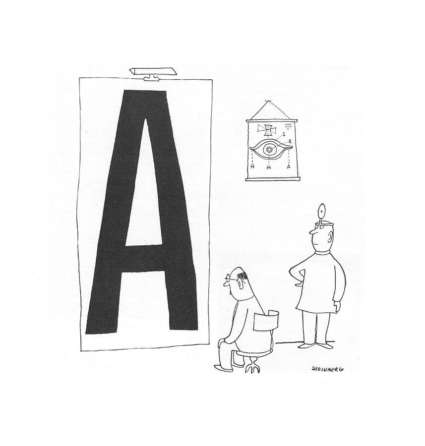 New Yorker October 30th, 1943 Drawing by Saul Steinberg