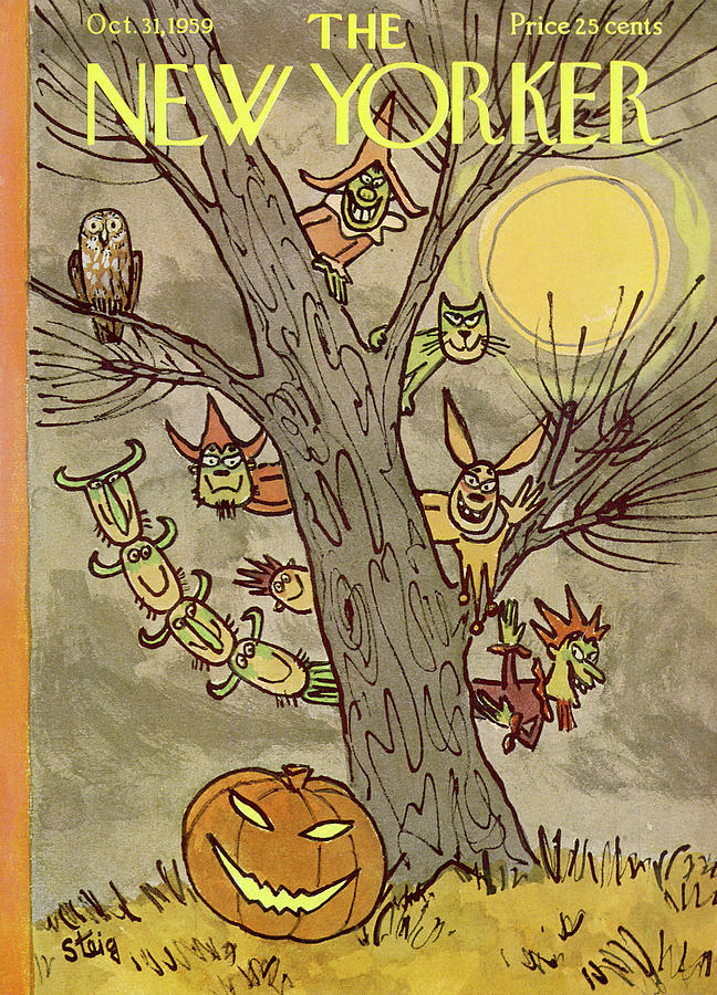 New Yorker October 31st, 1959 Painting by William Steig