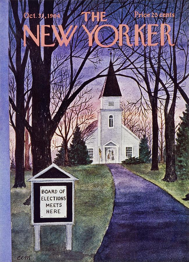 New Yorker October 31st 1964 Painting by Charles E Martin