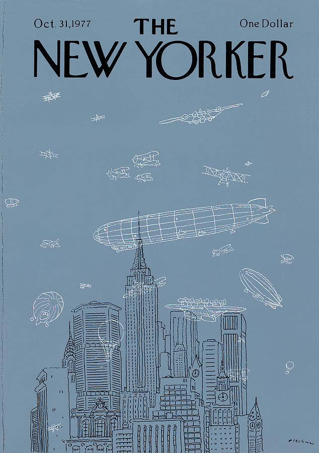 New Yorker October 31st, 1977 Painting by RO Blechman