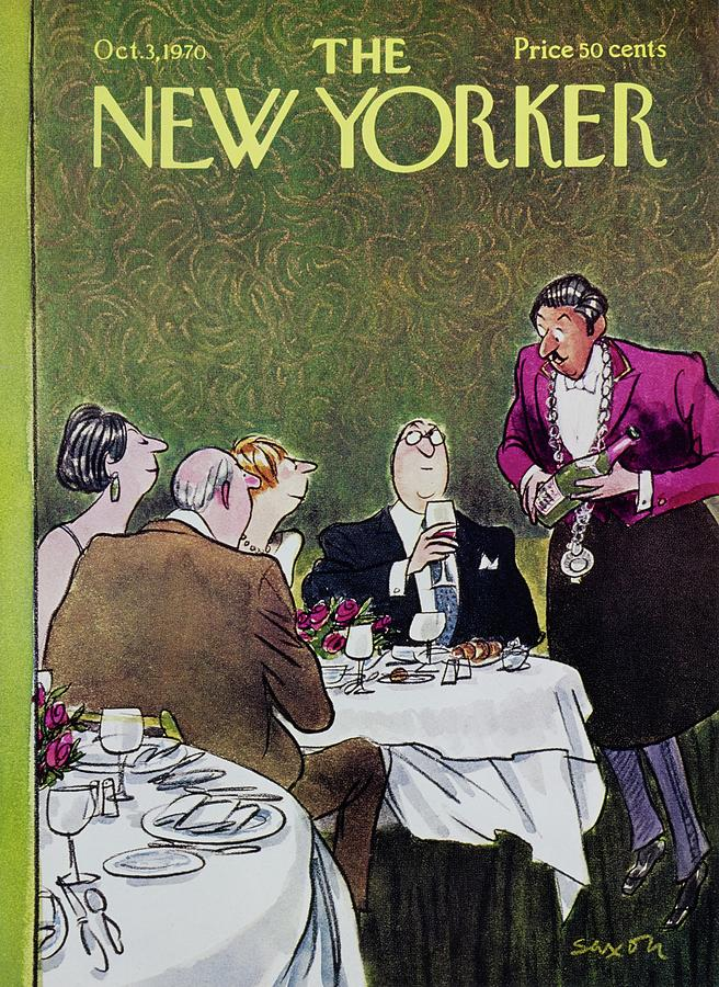 New Yorker October 3rd 1970 Painting by Charles D Saxon