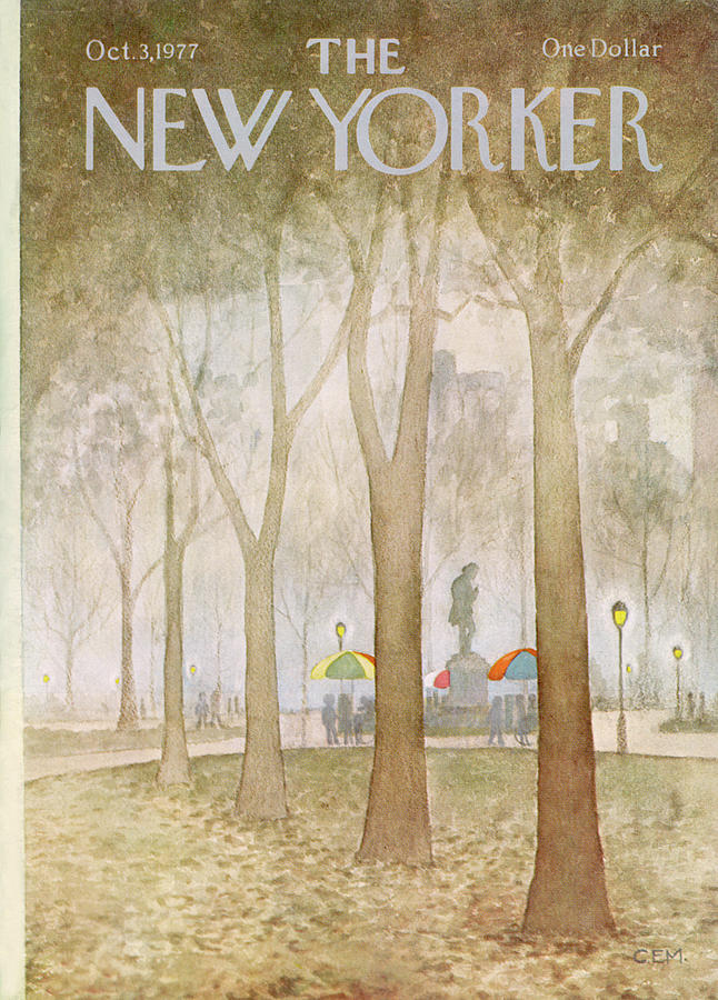 New Yorker October 3rd, 1977 Painting by Charles E Martin