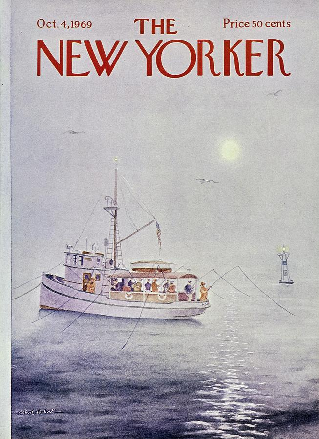 New Yorker October 4th 1969 Painting by Albert Hubbell