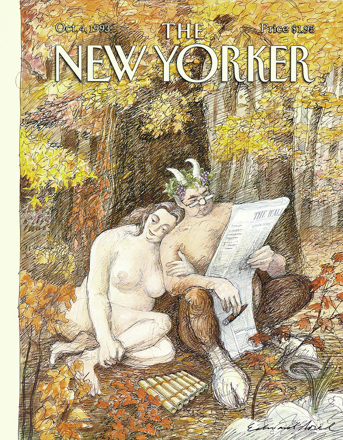New Yorker October 4th, 1993 Painting by Edward Sorel
