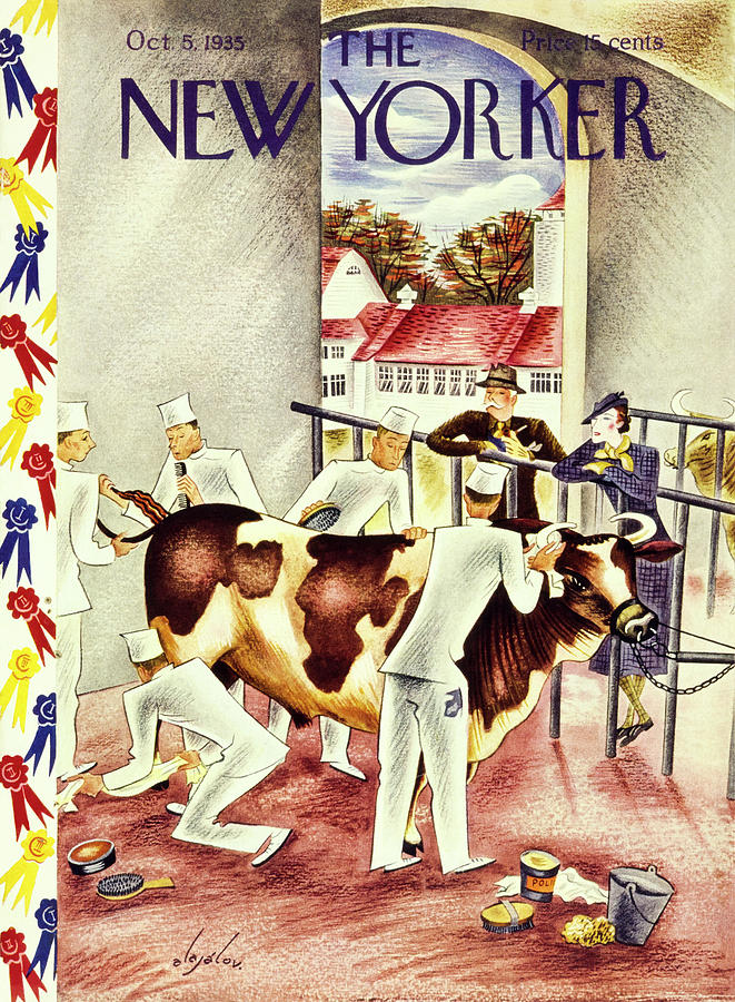 New Yorker October 5 1935 Painting by Constantin Alajalov