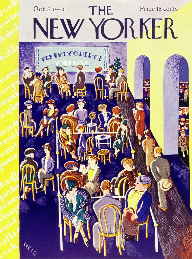 New Yorker October 5 1940 Painting by Ilonka Karasz