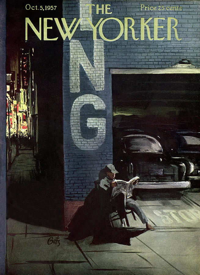 New Yorker October 5th, 1957 Painting by Arthur Getz