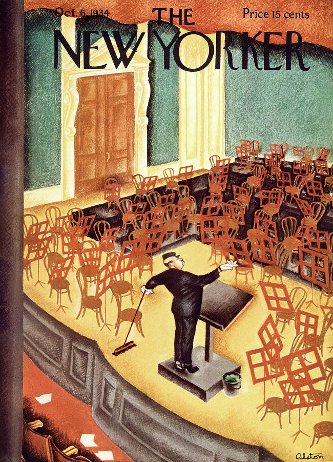 New Yorker October 6th, 1934 Painting by Charles Alston