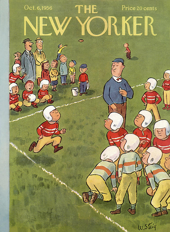 New Yorker October 6th, 1956 Painting by William Steig