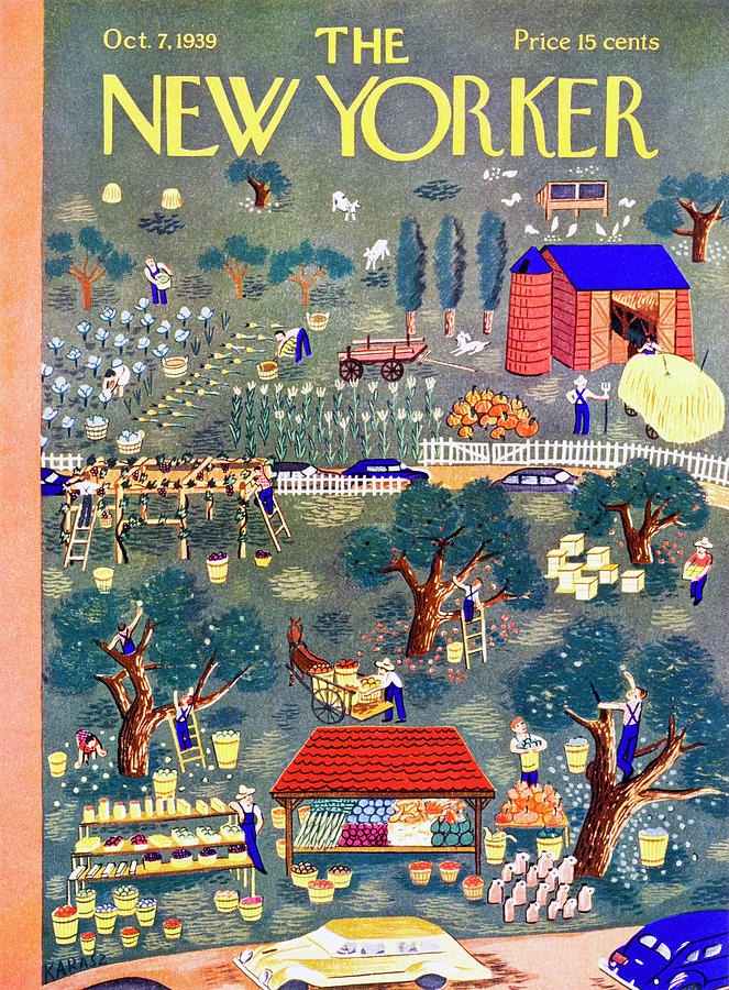 New Yorker October 7 1939 Painting by Ilonka Karasz