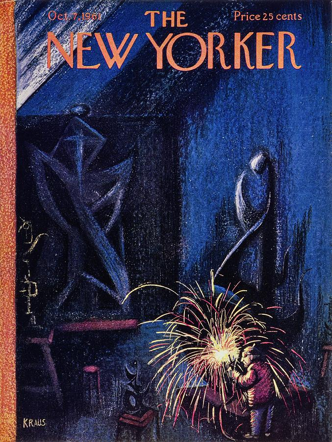 New Yorker October 7th 1961 Painting by Robert Kraus
