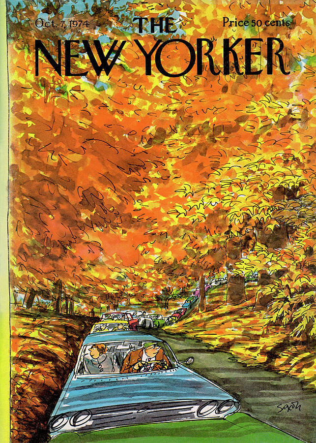 New Yorker October 7th, 1974 Painting by Charles Saxon