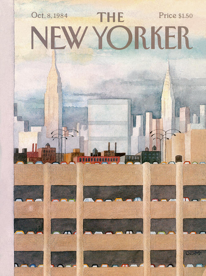 New Yorker October 8th, 1984 Painting by Charles E Martin