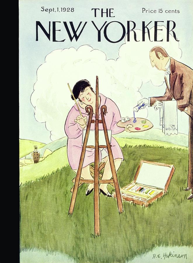 New Yorker September 1 1928 Painting by Helene E Hokinson