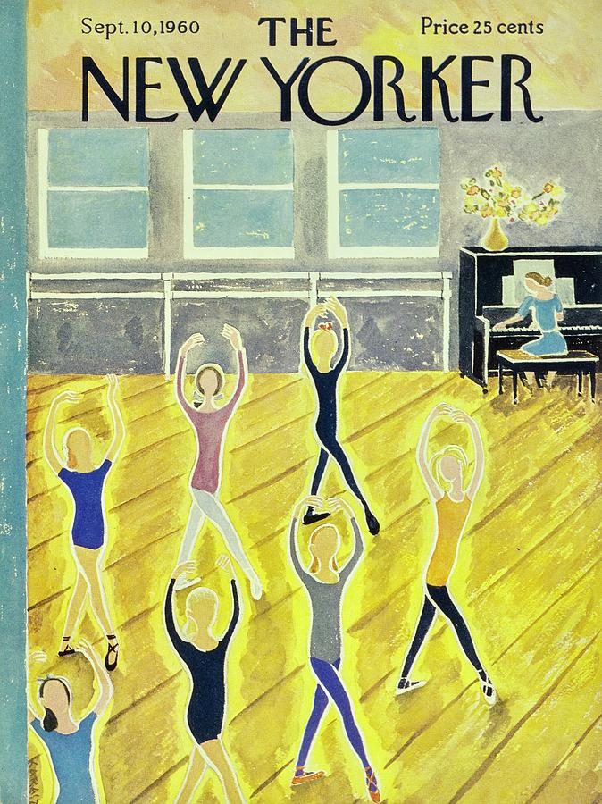 Illustration Painting - New Yorker September 10th 1960 by Ilonka Karasz