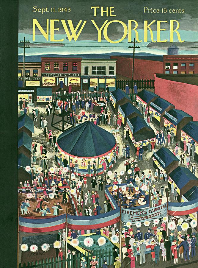 New Yorker September 11, 1943 Painting by Ilonka Karasz