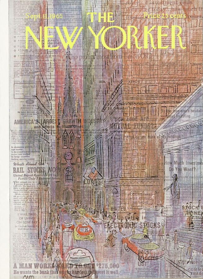 New Yorker September 11th, 1965 Painting by Charles E Martin