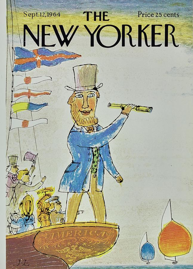 New Yorker September 12th 1964 Painting by Joseph Low