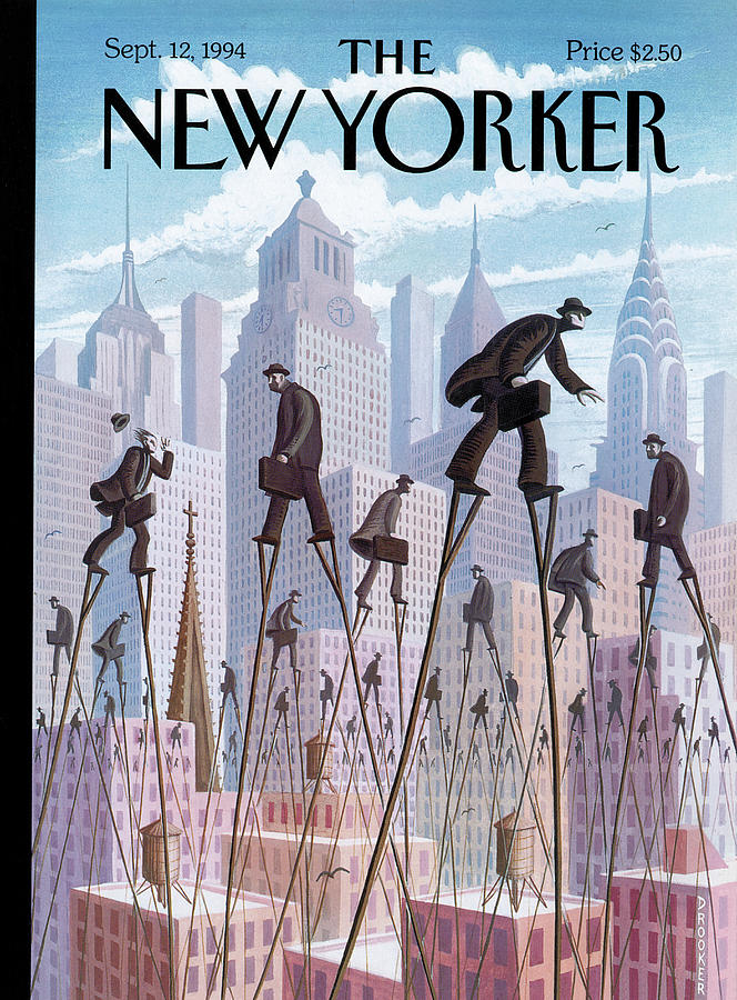 New Yorker September 12th, 1994 Painting by Eric Drooker