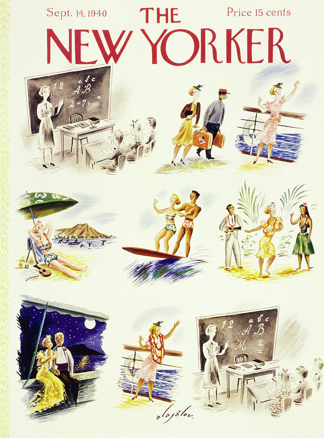 New Yorker September 14 1940 Painting by Constantin Alajalov
