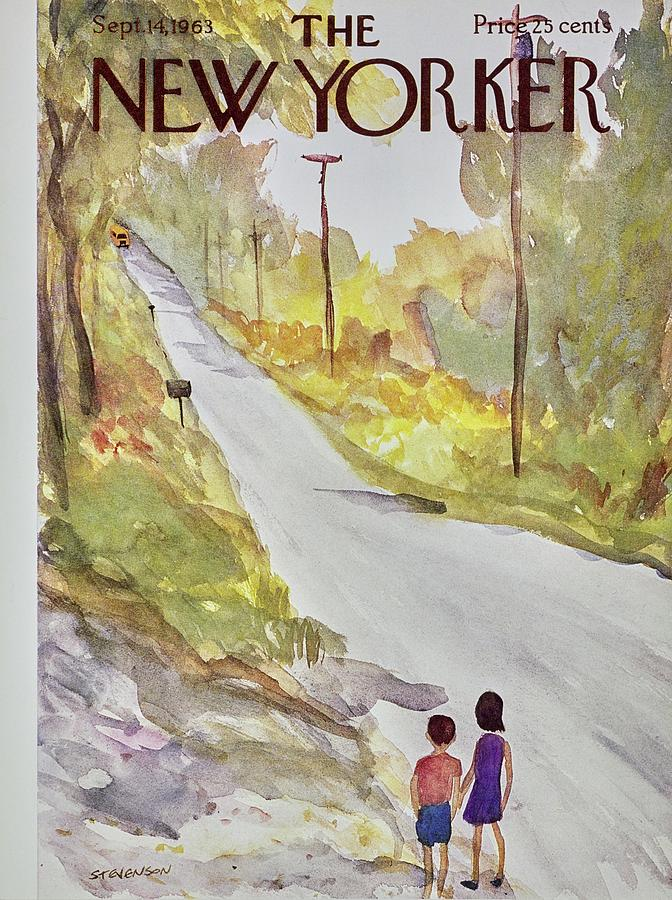 New Yorker September 14th 1963 Painting by James Stevenson
