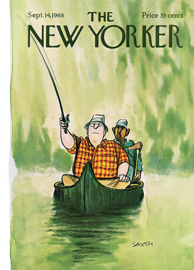 New Yorker September 14th, 1968 Painting by Charles Saxon