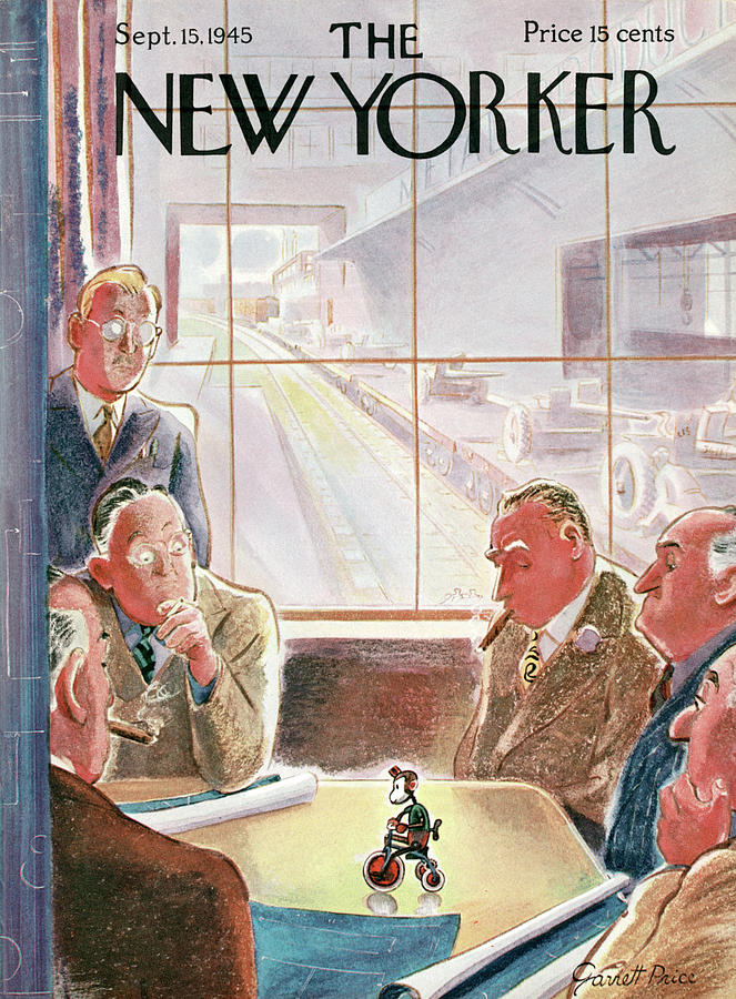 New Yorker September 15, 1945 Painting by Garrett Price