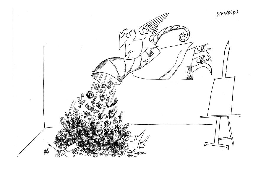New Yorker September 15th, 1962 Drawing by Saul Steinberg